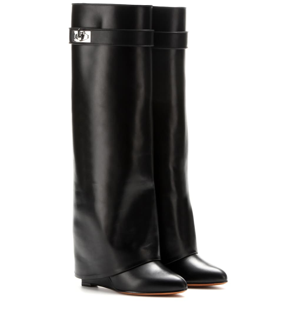 Leather Wedge Boots by Givenchy