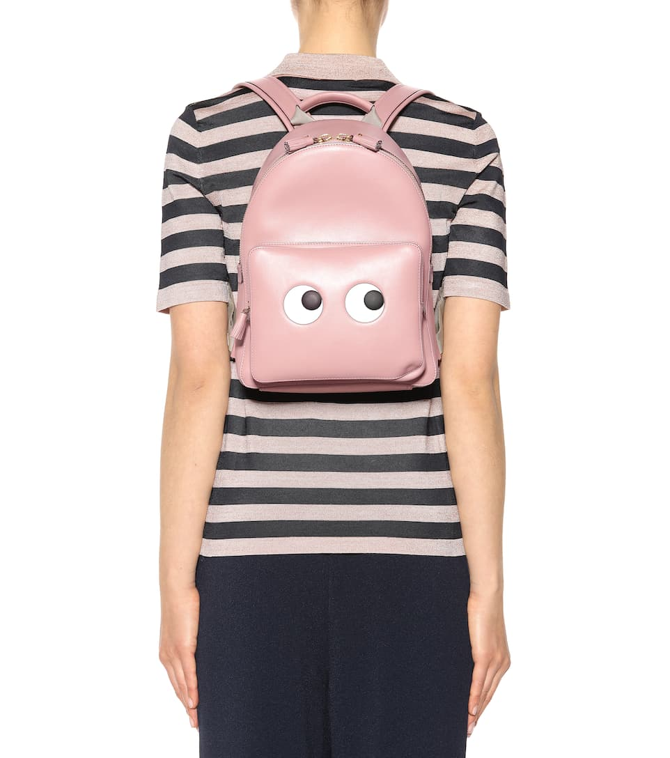 Anya Hindmarch Rucksack Eyes Right Mini aus Leder