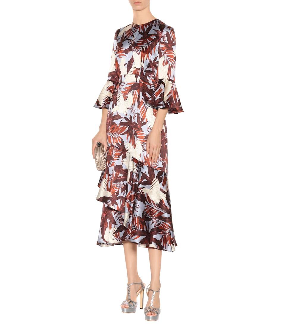 Erdem Bedrucktes Kleid aus Crêpe de Chine