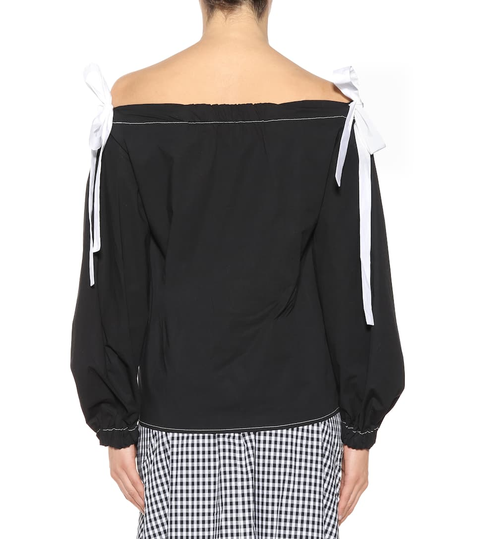 Rejina Pyo Off-Shoulder-Top Heidi mit Baumwollanteil