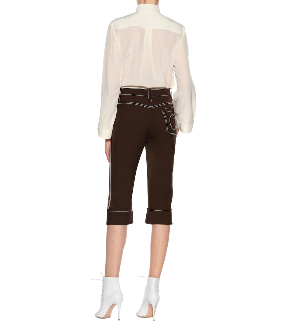 Chloé Cropped-pants With Shearing Wool Share