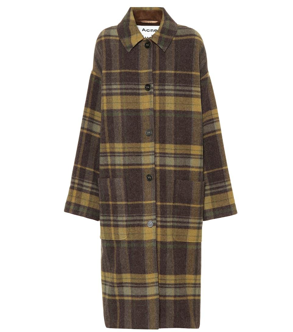 Plaid Wool Blend Coat by Acne Studios
