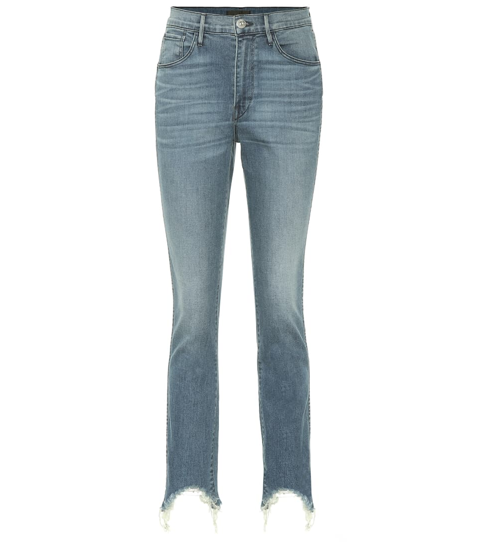 3x1 W3 AUTHENTIC CROPPED STRAIGHT JEANS