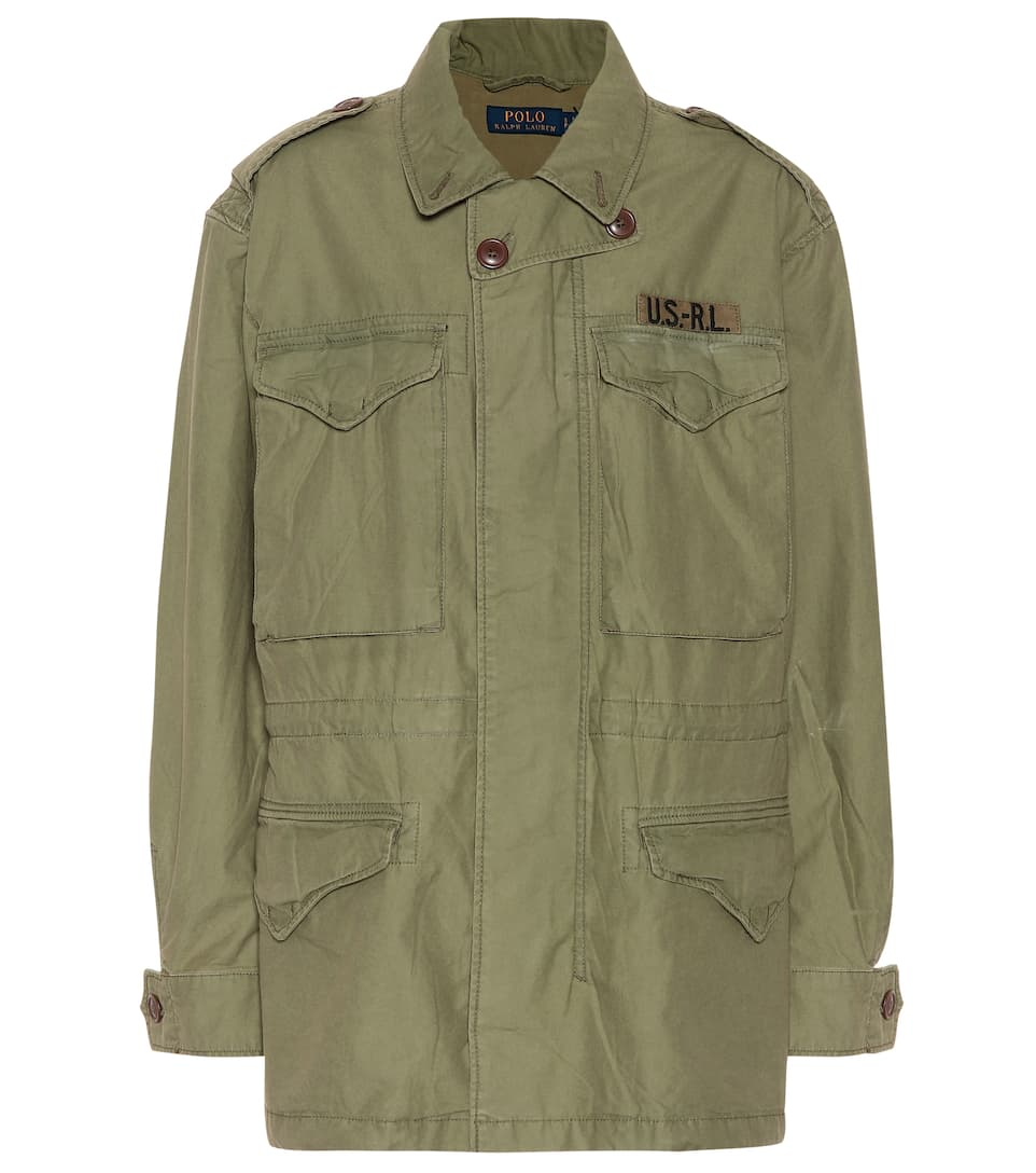 d602ca1d Cotton twill military jacket