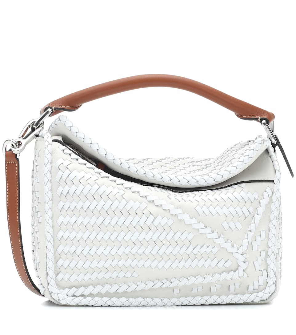Puzzle Woven Small Shoulder Bag by Loewe