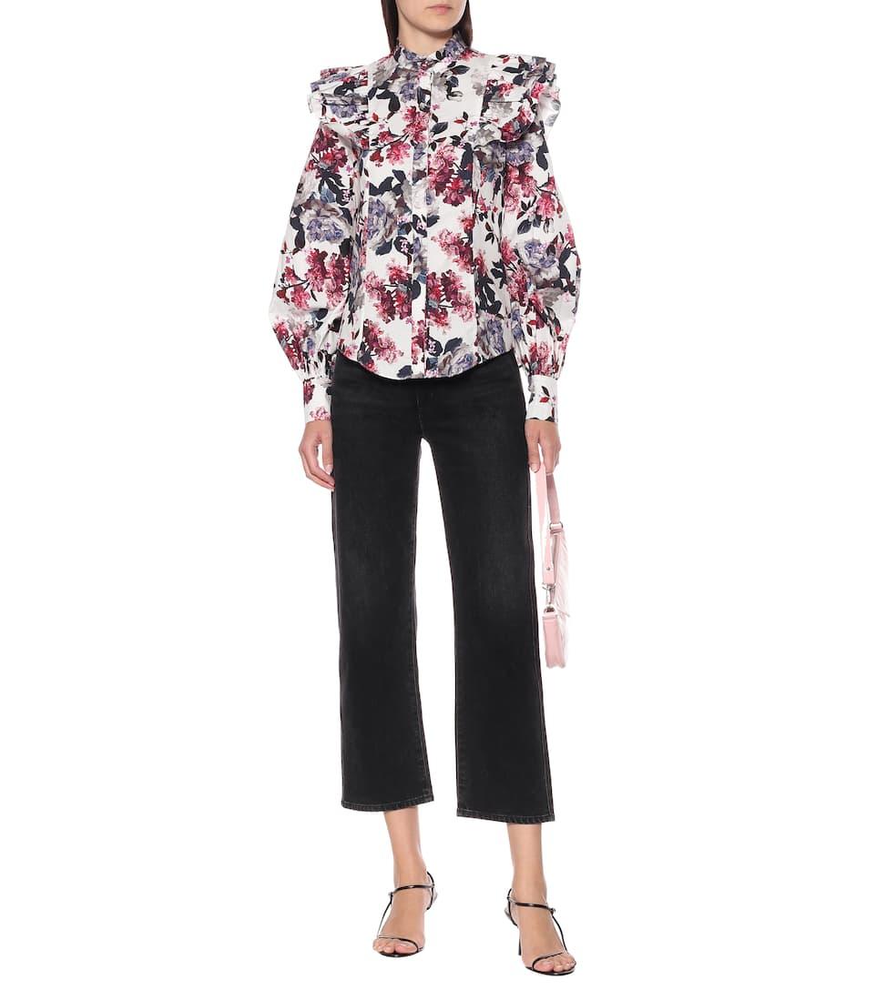 Erdem - Caterina floral cotton-poplin top