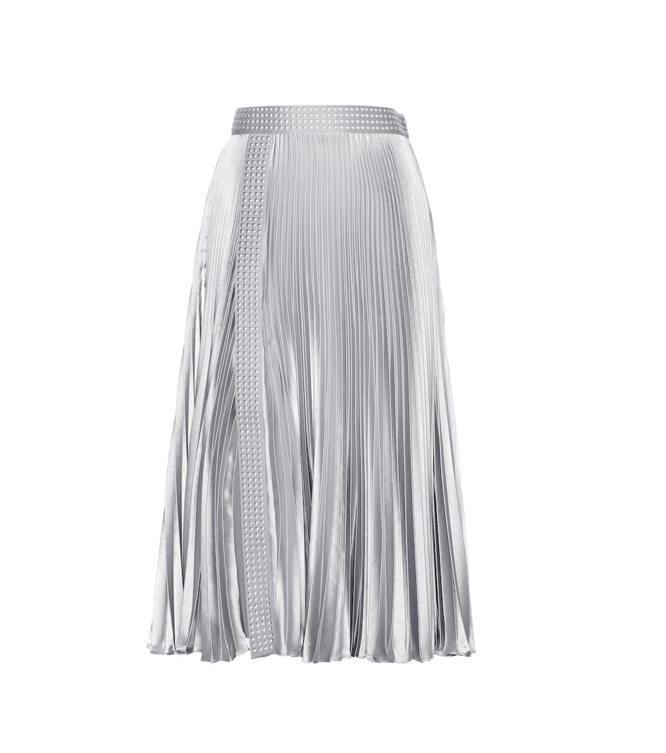 Christopher Kane Embellished metallic pleated skirt
