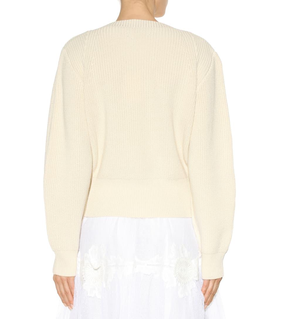 Isabel Marant - Fidji cotton and wool-blend sweater | mytheresa.com
