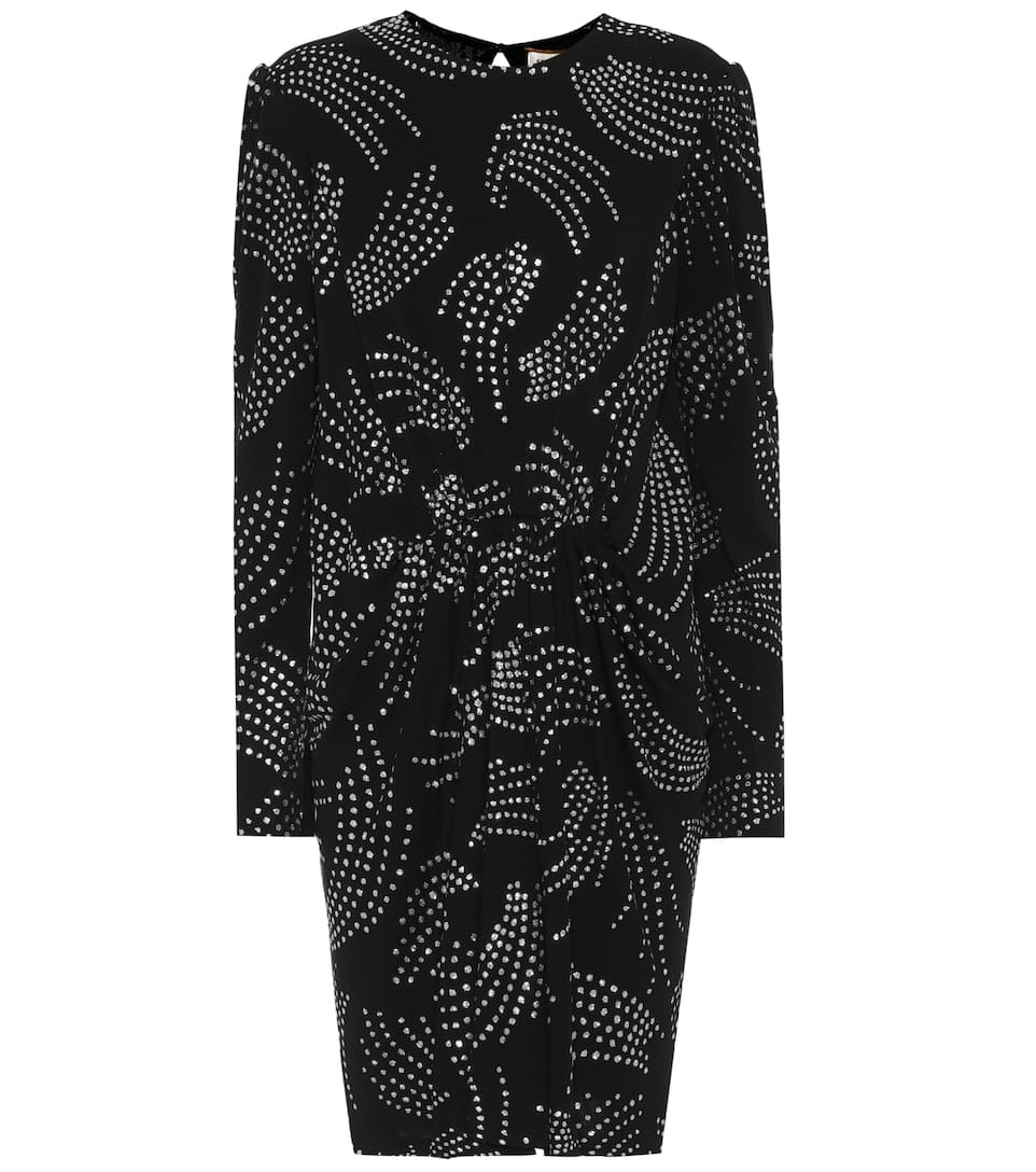 Saint Laurent Minikleid mit Glitter