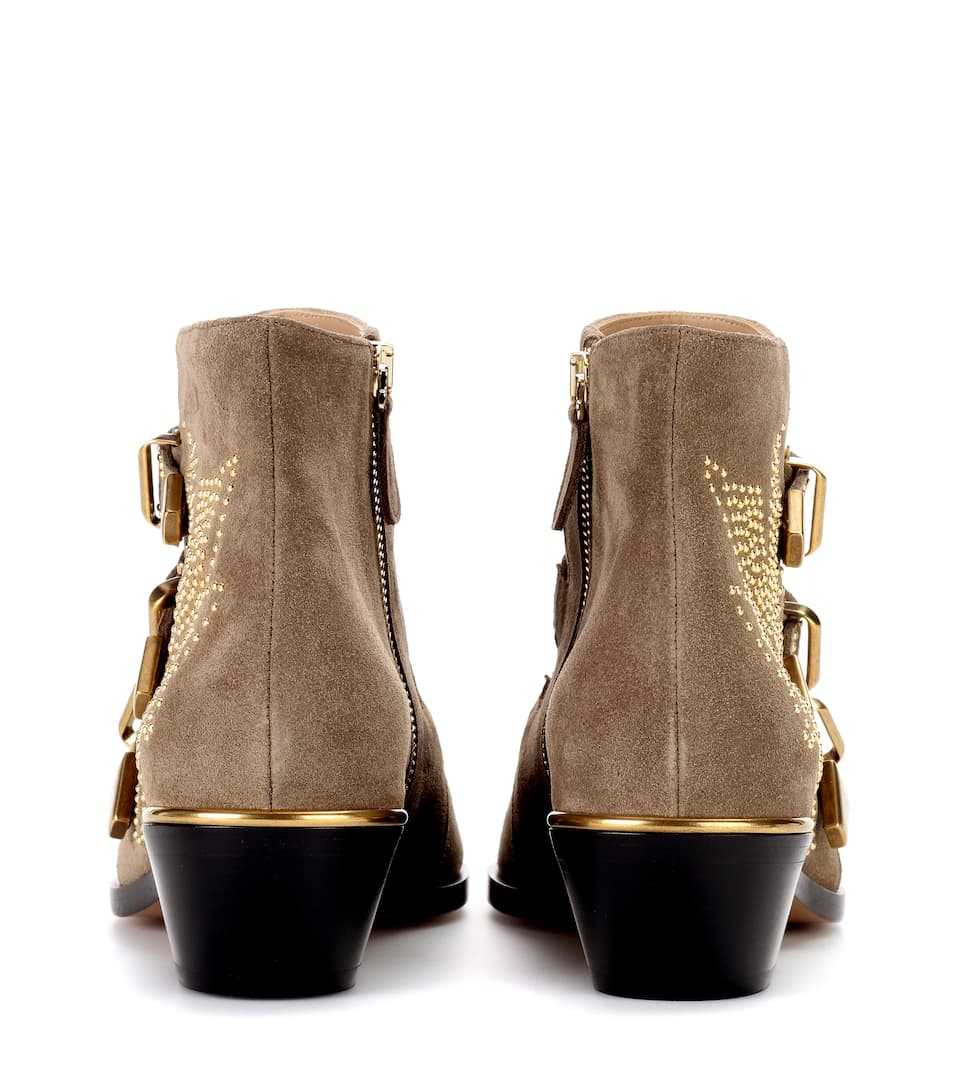 Chloé Ankle Boots From Suede Susanna