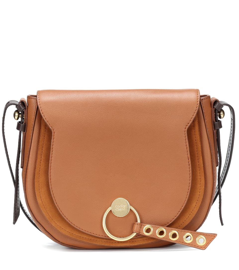 Lumir Large Leather Shoulder Bag by See By Chloé