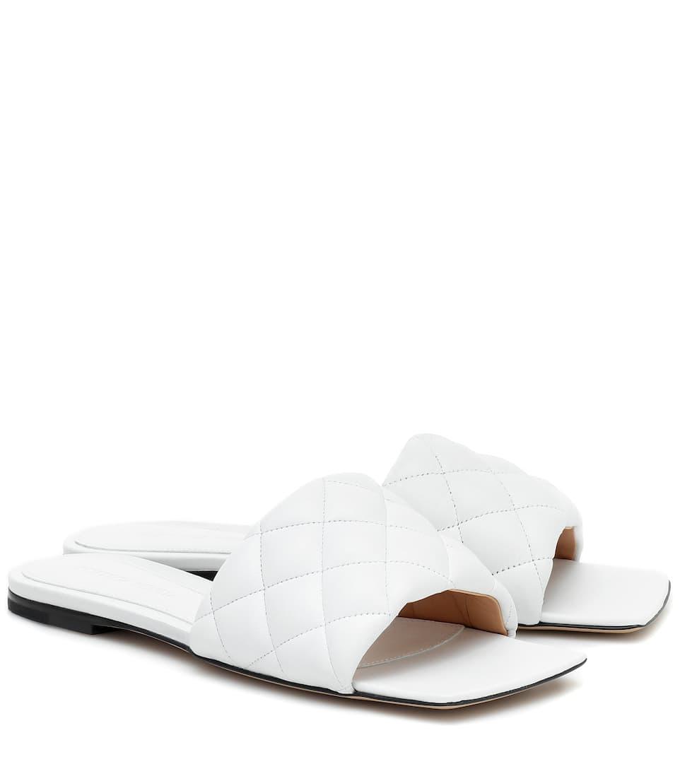 Padded Leather Slides | Bottega Veneta