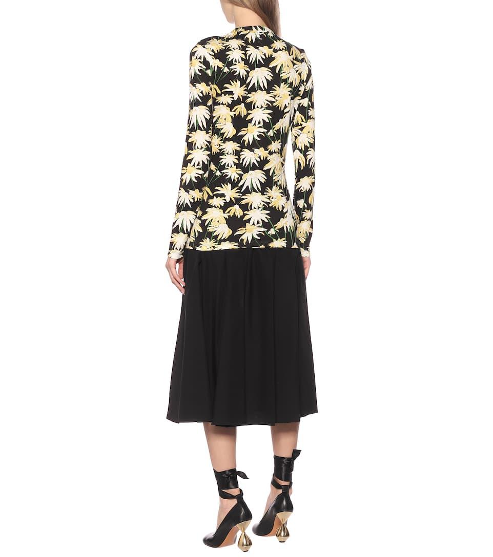 Loewe - Floral cotton T-shirt