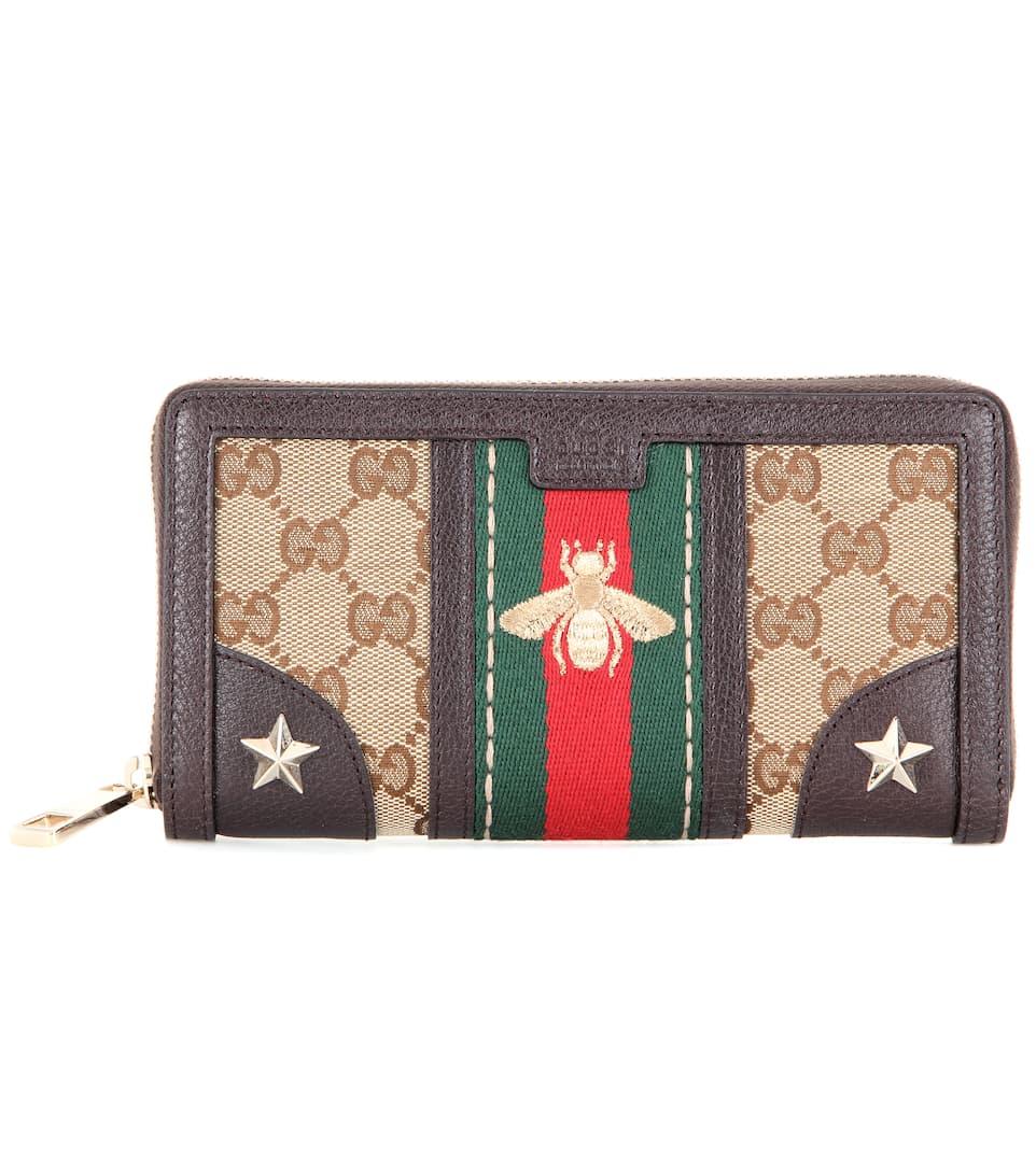 Gucci Portemonnaie aus Canvas und Leder