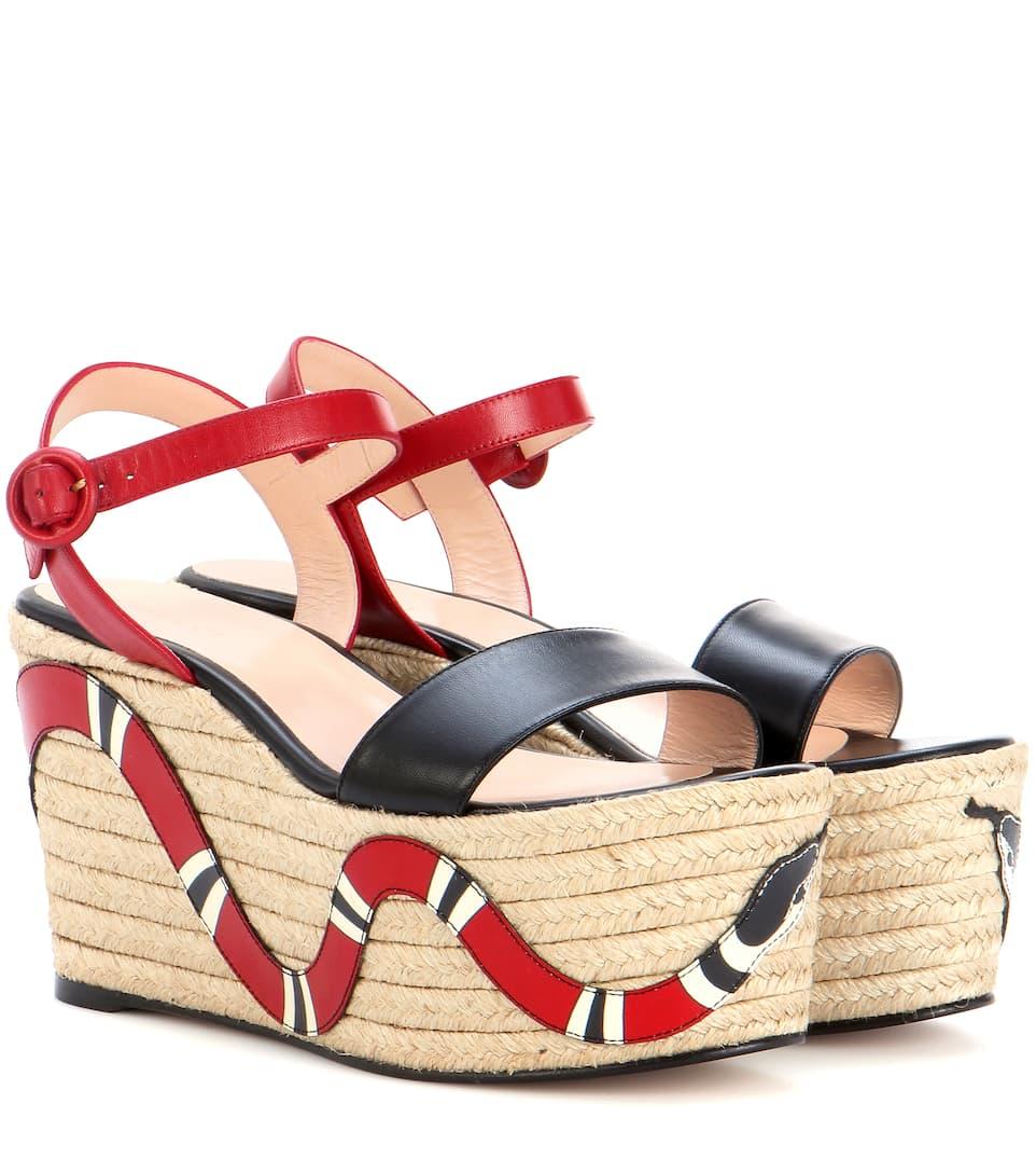 Platform espadrille sandals Gucci dKSOAAV