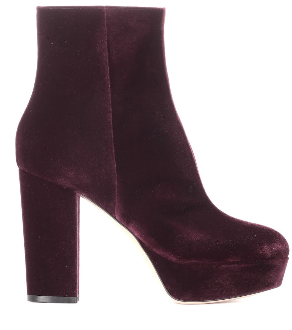 Exclusif À Mytheresa.com - Bottes Plate-forme De Velours Temple Gianvito Rossi zWnOh4sfRf