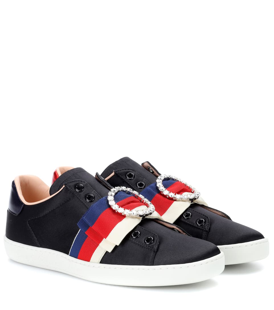 Ace embellished satin sneakers Gucci mzSCDh