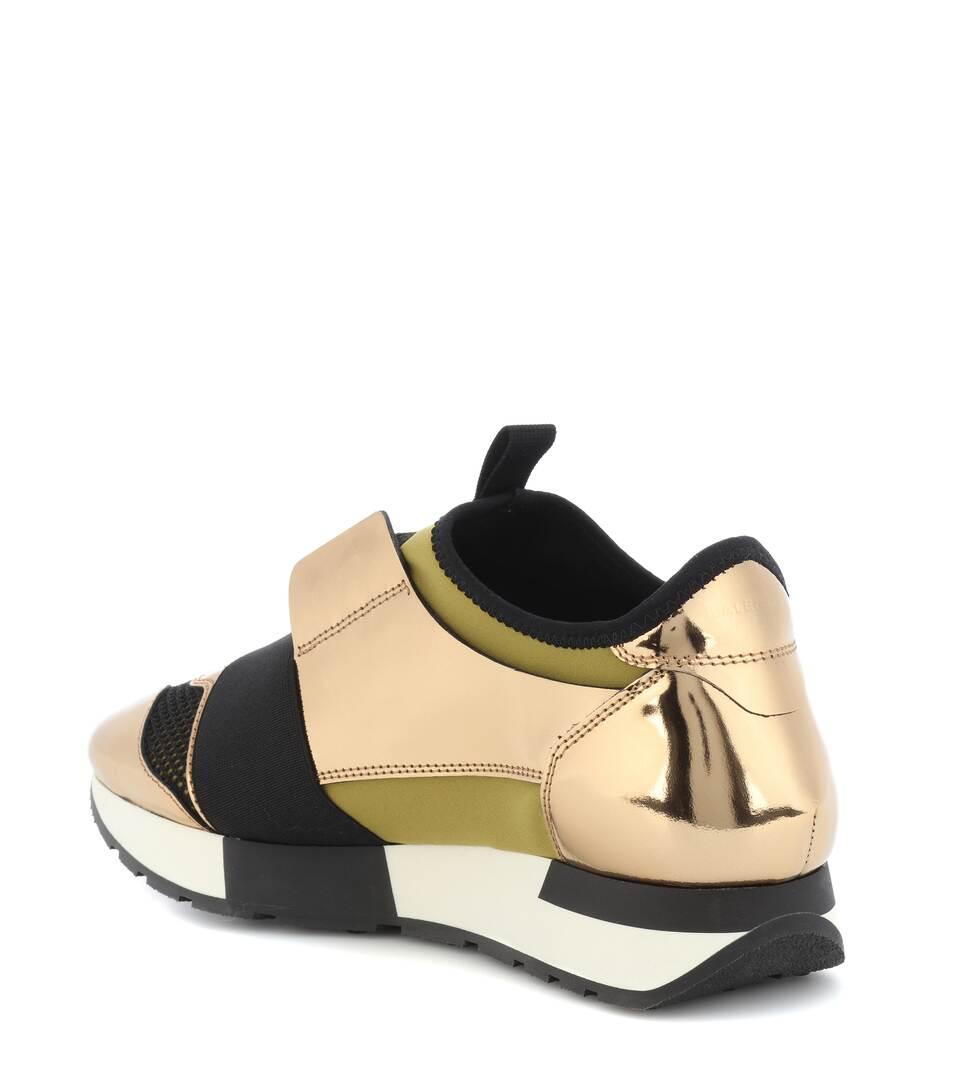 Balenciaga Sneakers Race Runner mit Lederanteil