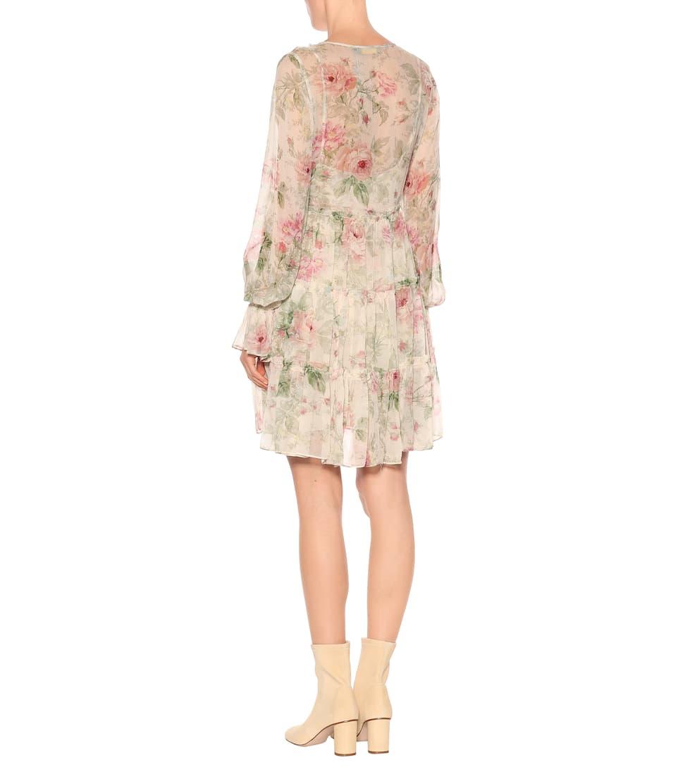Sonoma Vestido floral estampado de seda Floral Ralph Lauren Polo xHq0w6ZX