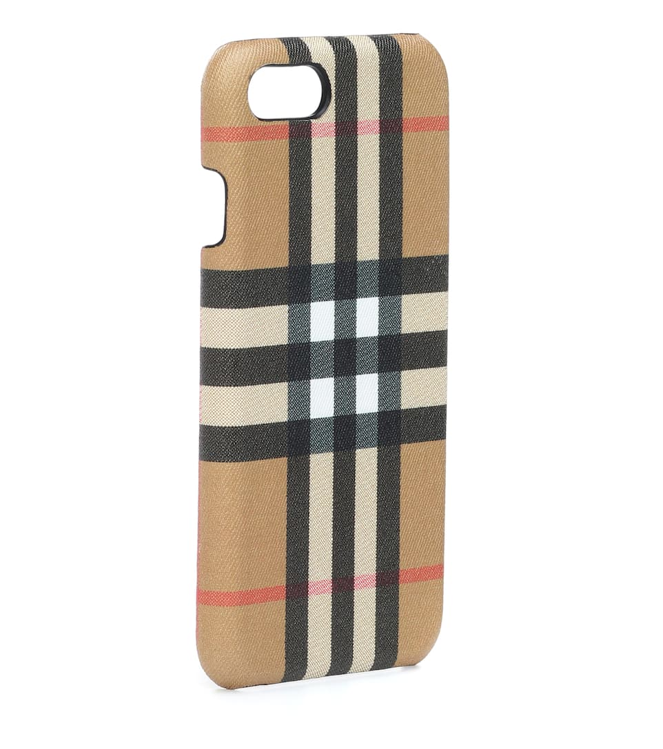 super popular b0a88 78e0f Checked leather iPhone 8 case