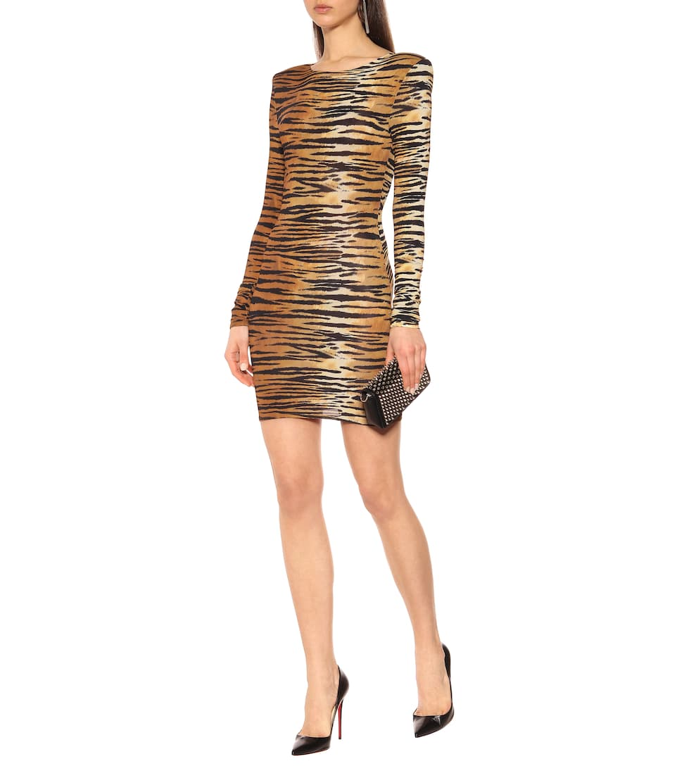 Miniabito Stretch Animalier A Vauthier Alexandre Stampa ym0vNnwO8