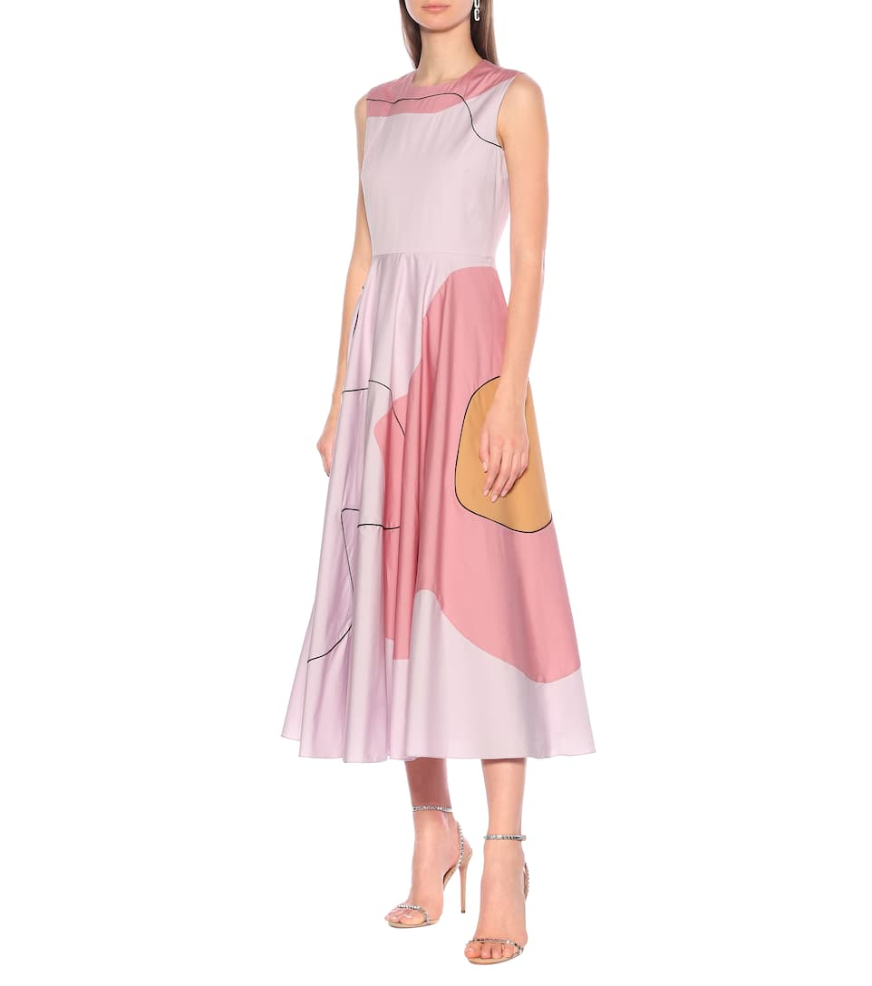 Roksanda - Flora printed cotton midi dress