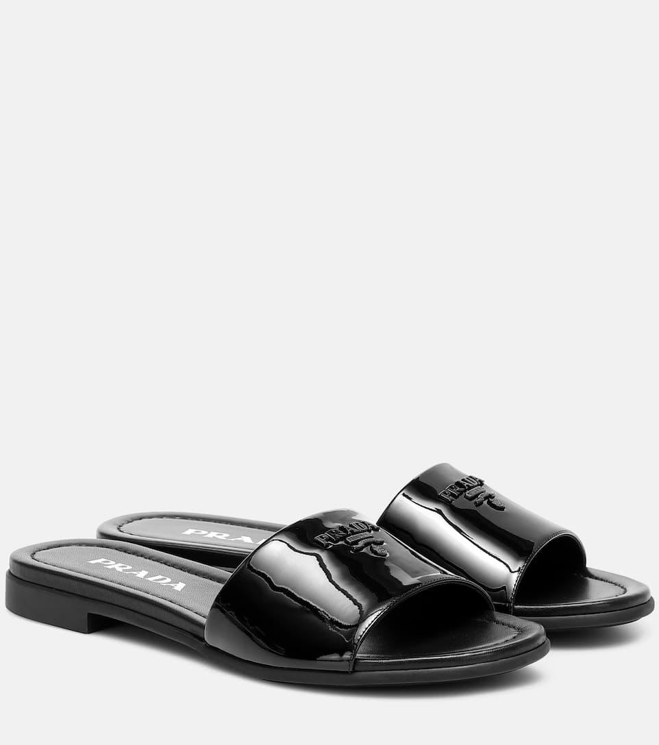 Patent Leather Slides | Prada - Mytheresa