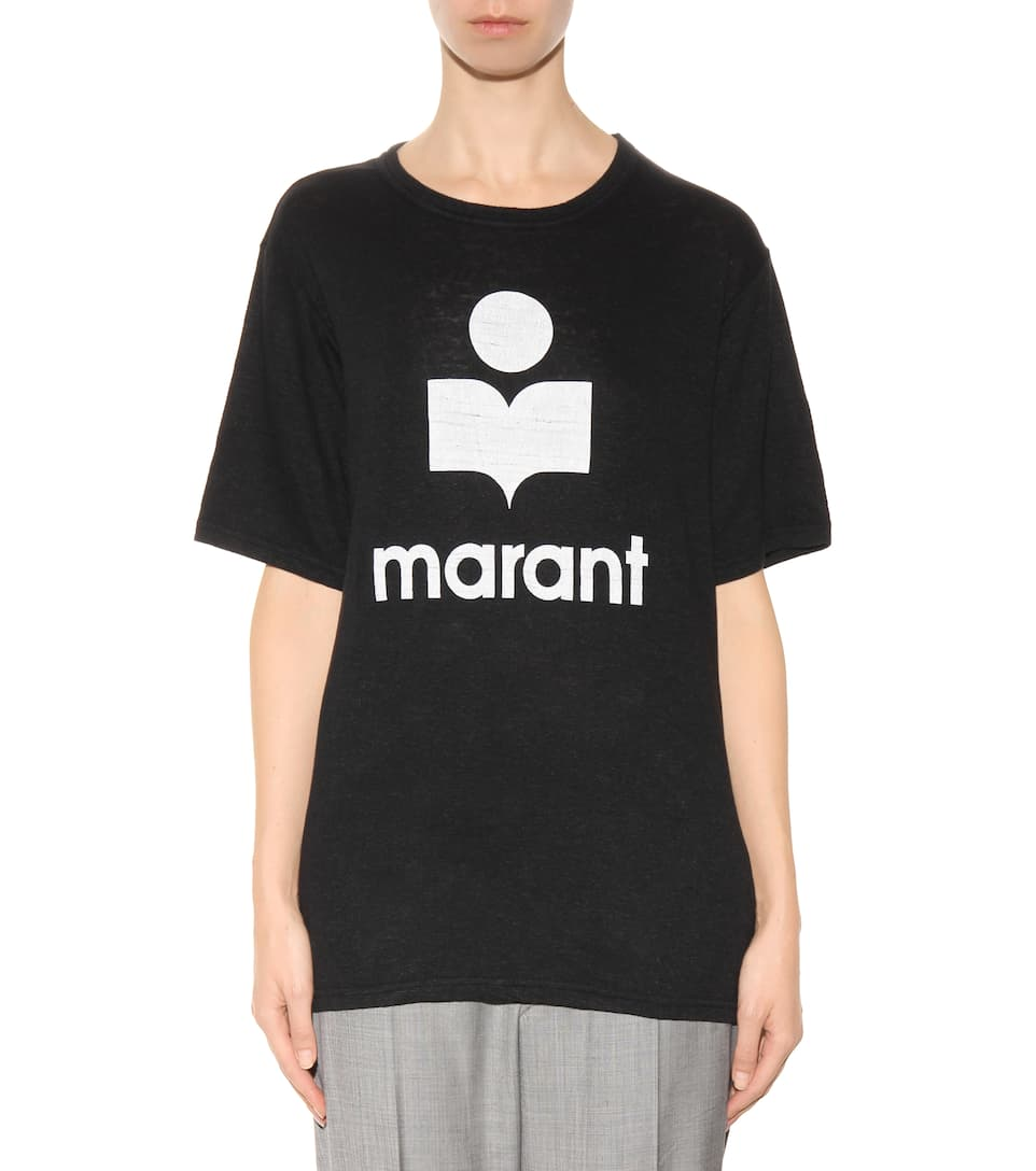 Isabel marant toile kendrick printed linen t shirt for Isabel marant t shirt sale