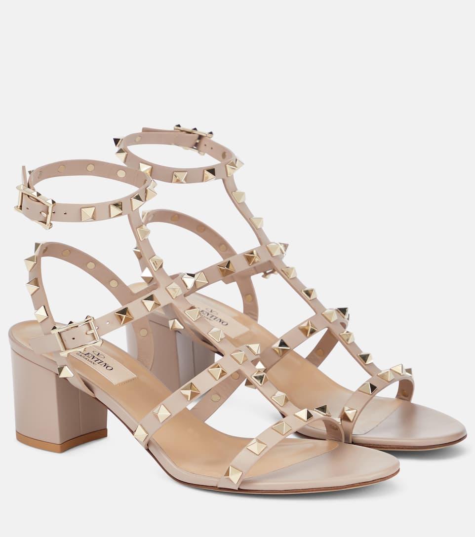 bb892a40a428 Valentino Garavani Rockstud Leather Sandals - Valentino