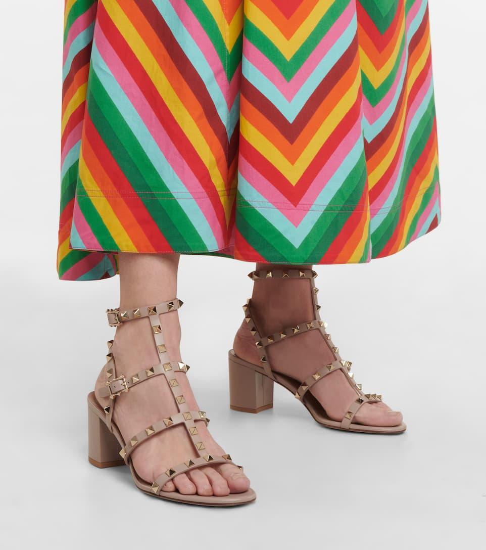 Blockabsatz Garavani sandalen LederMytheresa Valentino Rockstud nrnbsp;p00210499 Art Aus c3R4AS5qjL