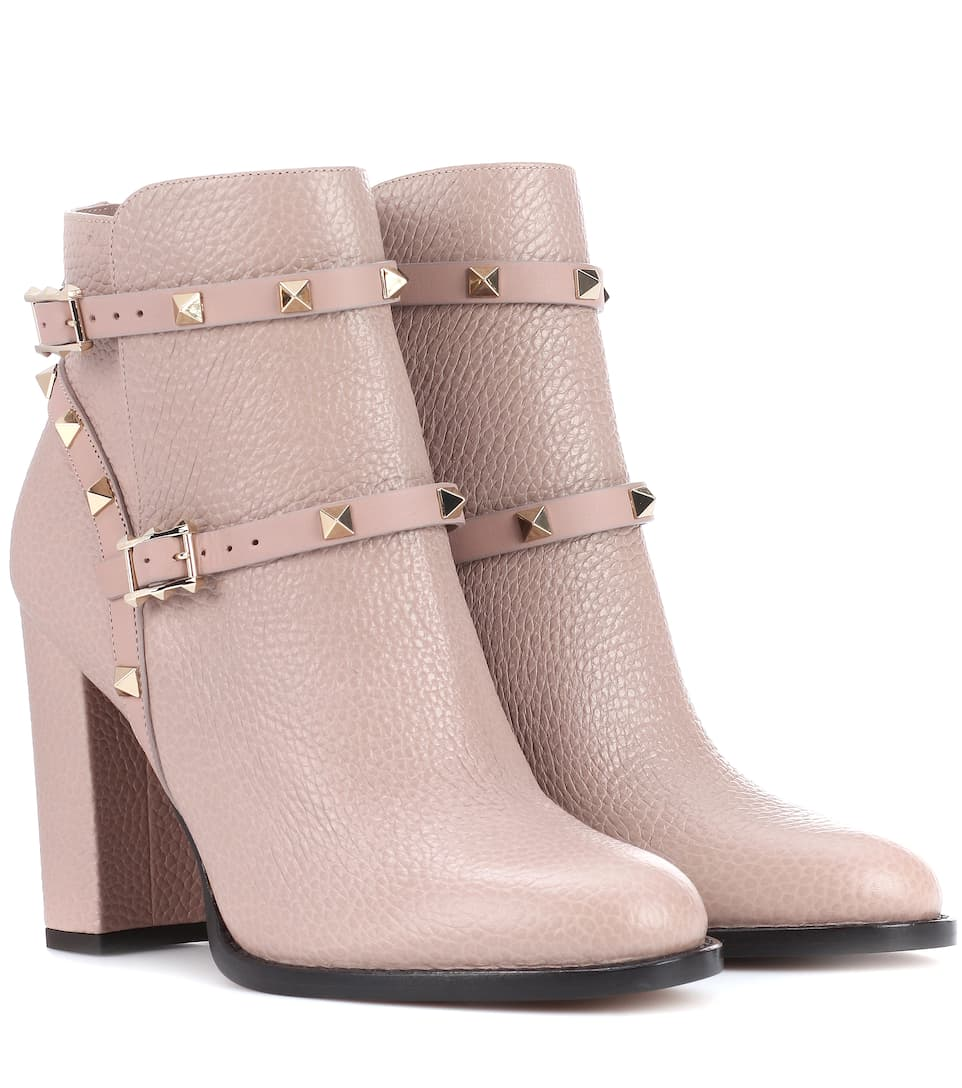 4a7a09db0666 Valentino - Valentino Garavani Rockstud leather ankle boots