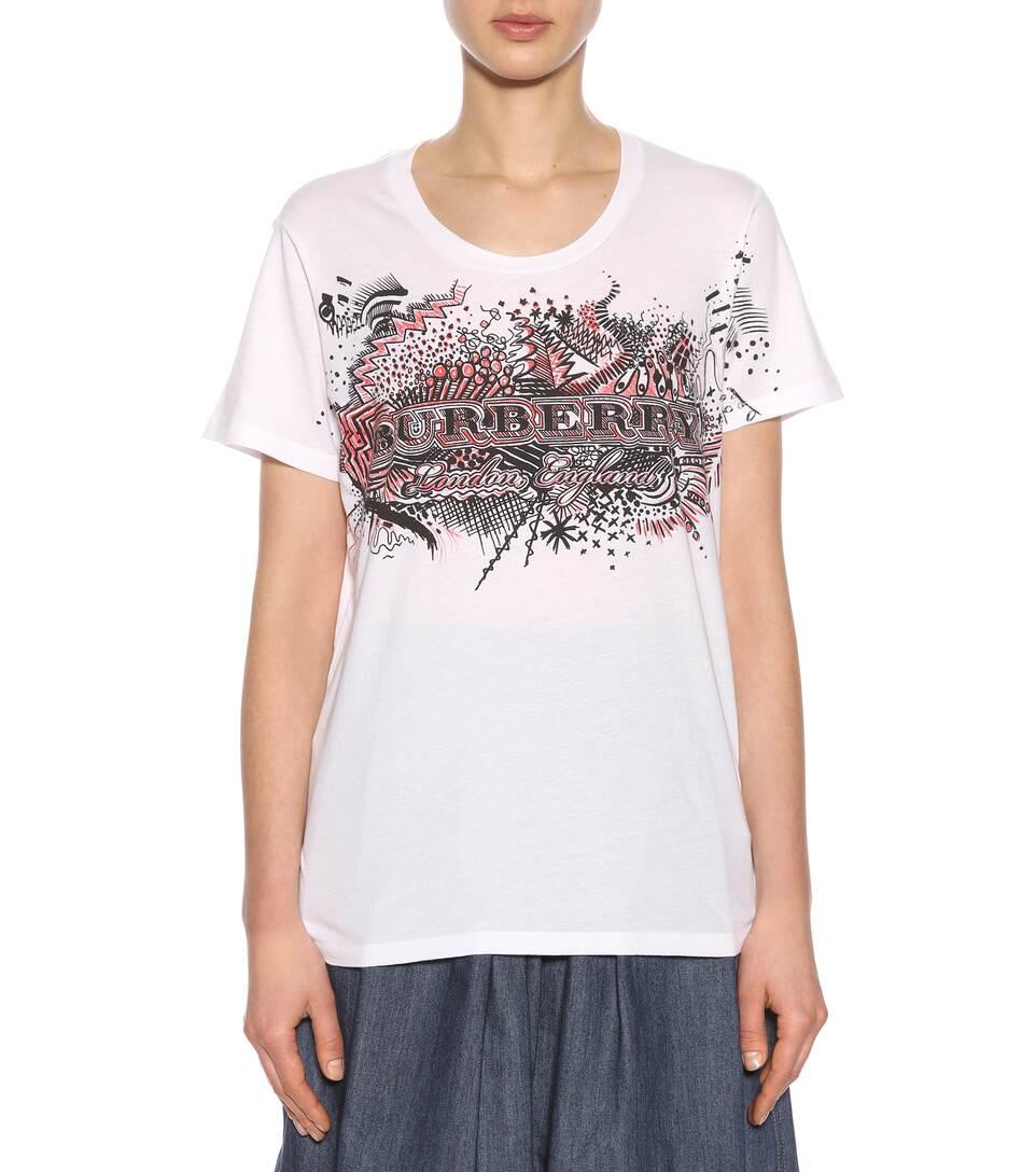 Burberry Bedrucktes T-Shirt aus Baumwolle