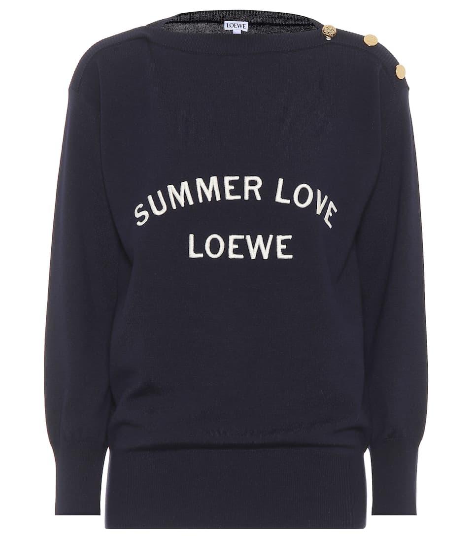 Loewe Sweatshirt aus Wolle Verkauf Neuer Stile Günstig Kaufen Offizielle Seite Manchester Großer Verkauf Günstiger Preis Aussicht TN80yG9