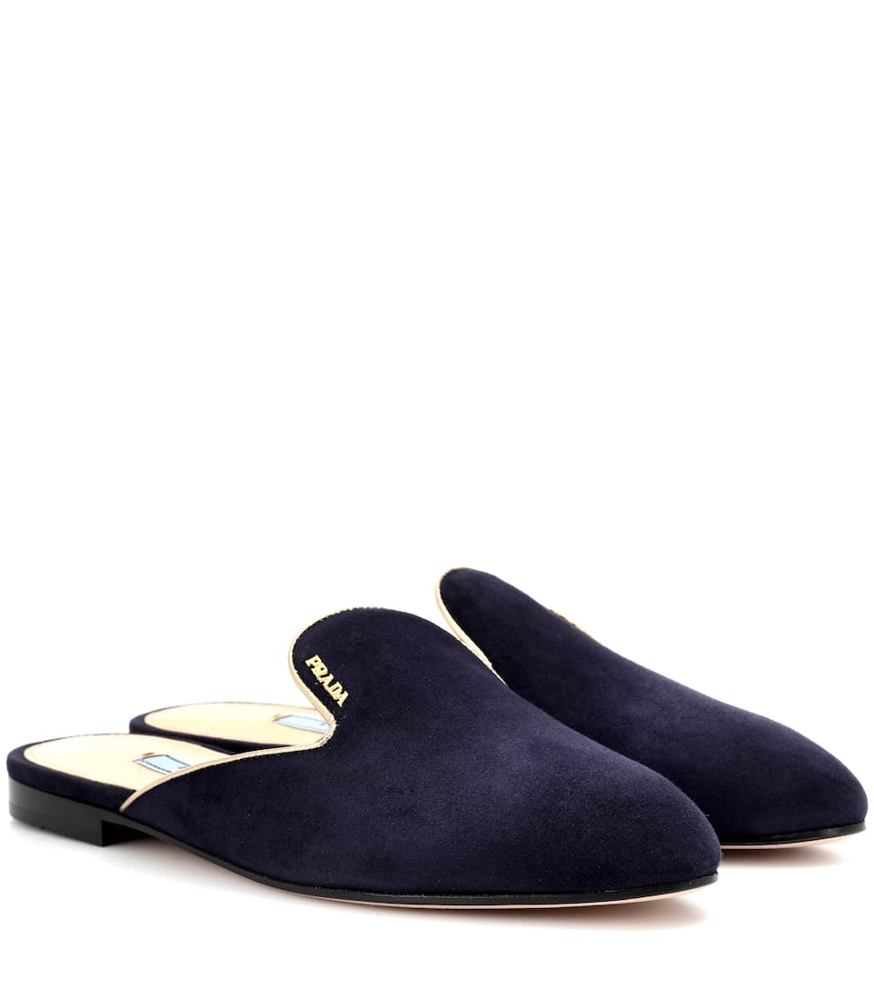 Prada Slippers From Suede