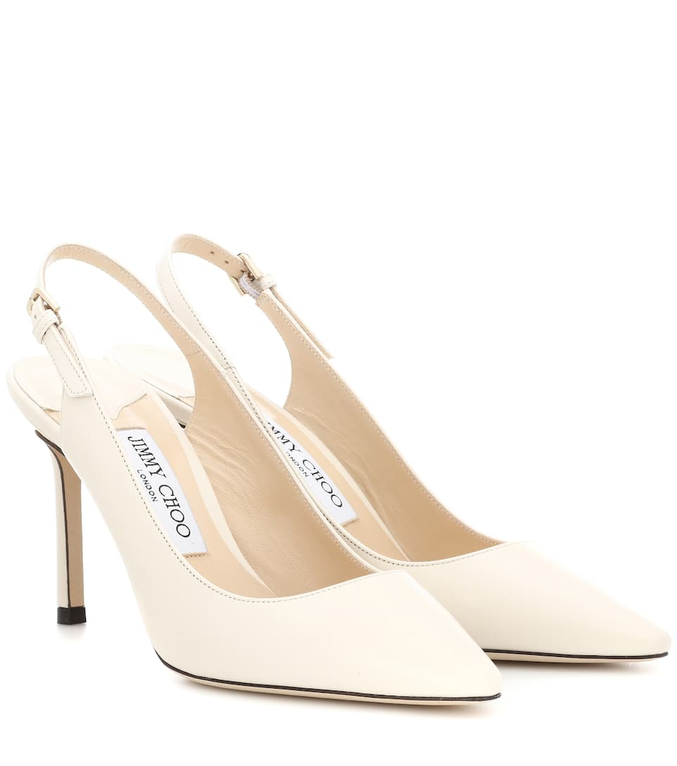 f282880c523 Erin 85 Leather Slingback Pumps - Jimmy Choo