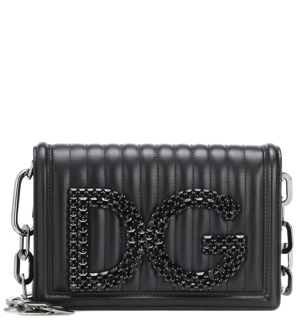 DG Girls leather shoulder bag Dolce & Gabbana KIAGyO9ylp