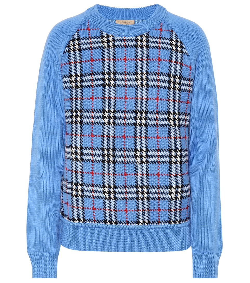 901fbb2c756 Burberry - Checked wool jacquard sweater