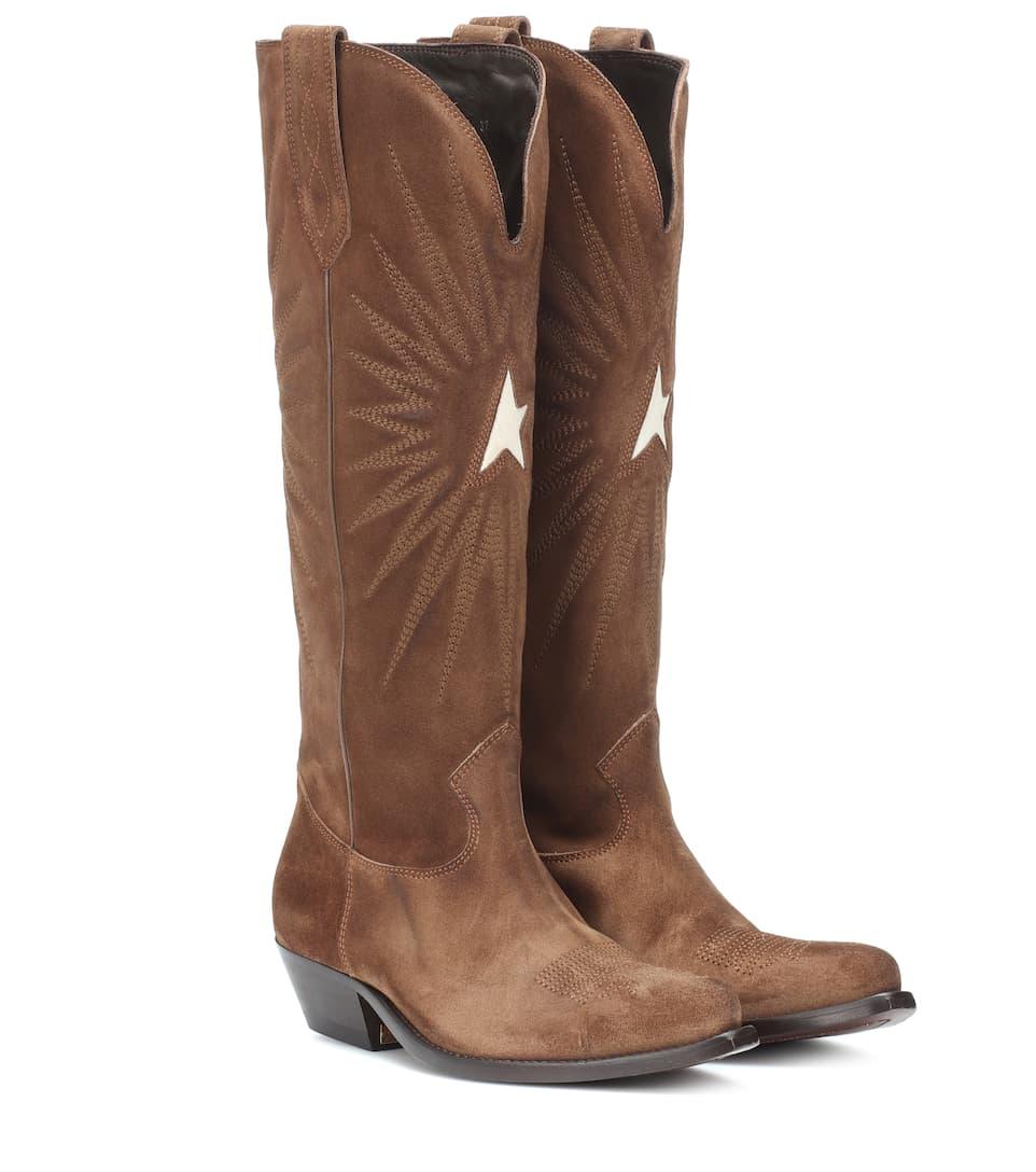 Wish Star Suede Cowboy Boots  36f773c07c7