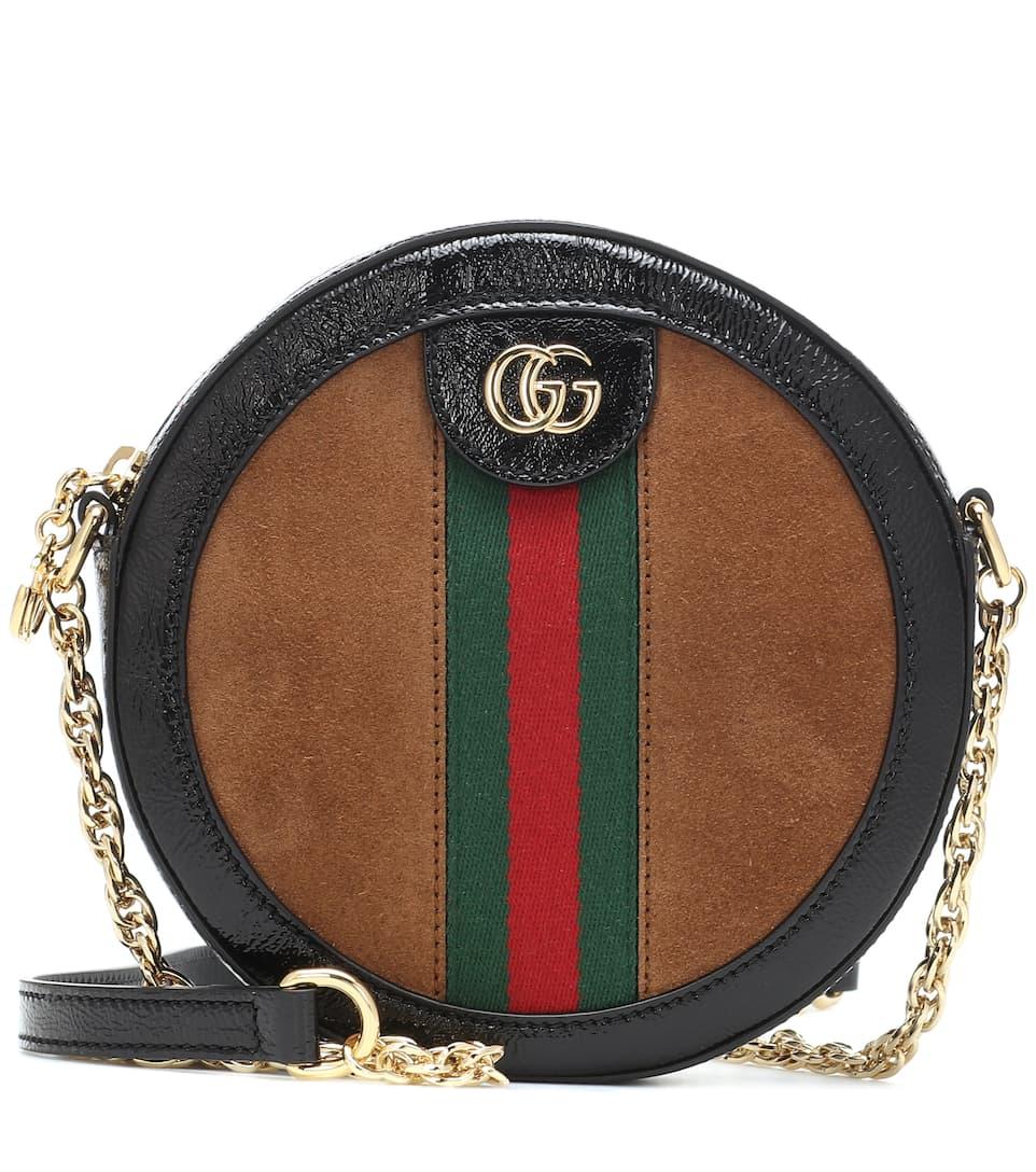9cf437bb4f22ad Ophidia Mini Round Shoulder Bag - Gucci | mytheresa