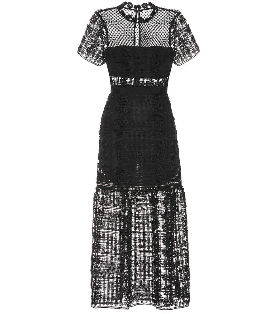 3d512cc46383 Lace Midi Dress - Self-Portrait | mytheresa.com