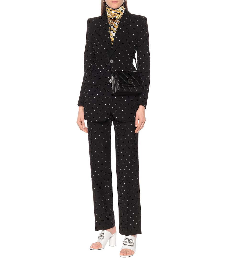 Balenciaga - Embellished Wool Blazer Big Discount