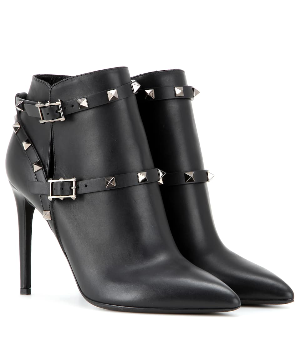 Valentino Rockstud Noir leather ankle boots