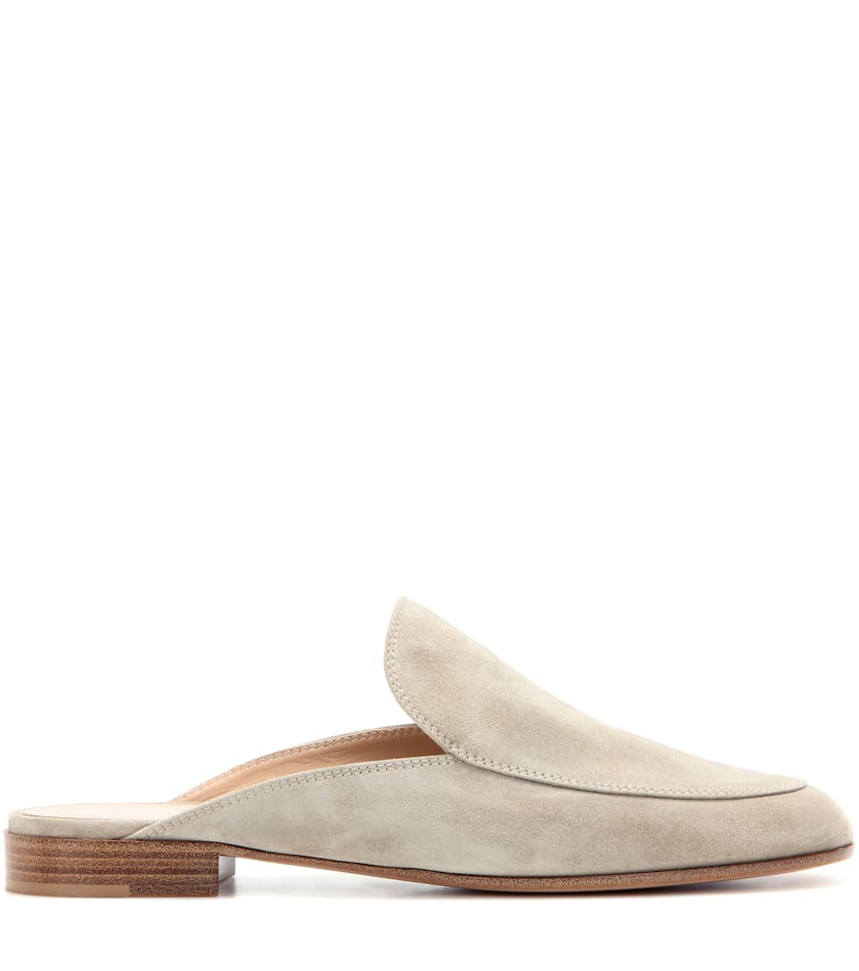 Gianvito Rossi Palau suede slippers xp30Iafn