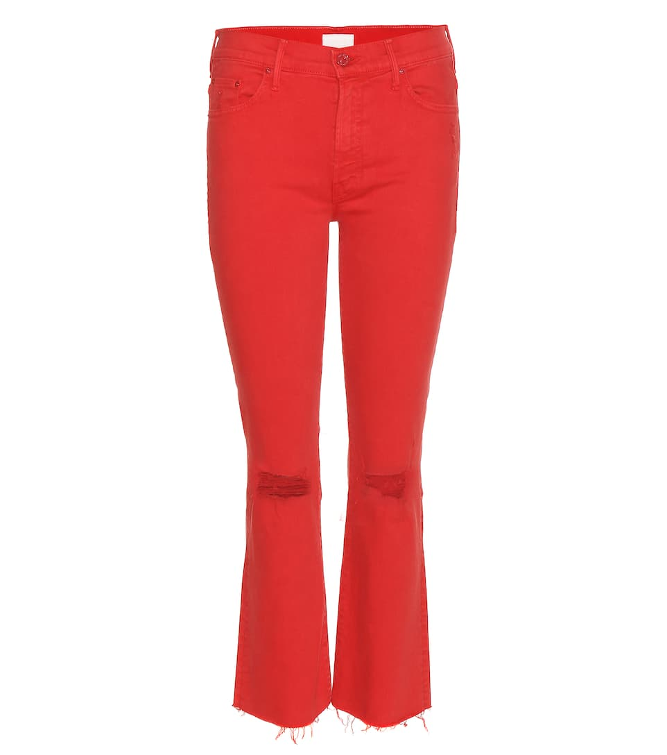 THE INSIDER CROP FRAY JEANS