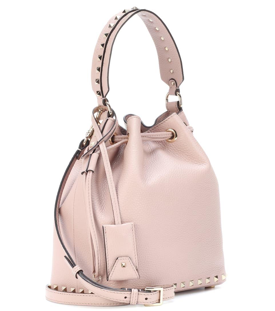 Sehr Günstig Valentino Valentino Garavani Bucket-Bag Rockstud Small aus Leder Shop Online-Verkauf Verkauf Niedrigster Preis Yf1VR