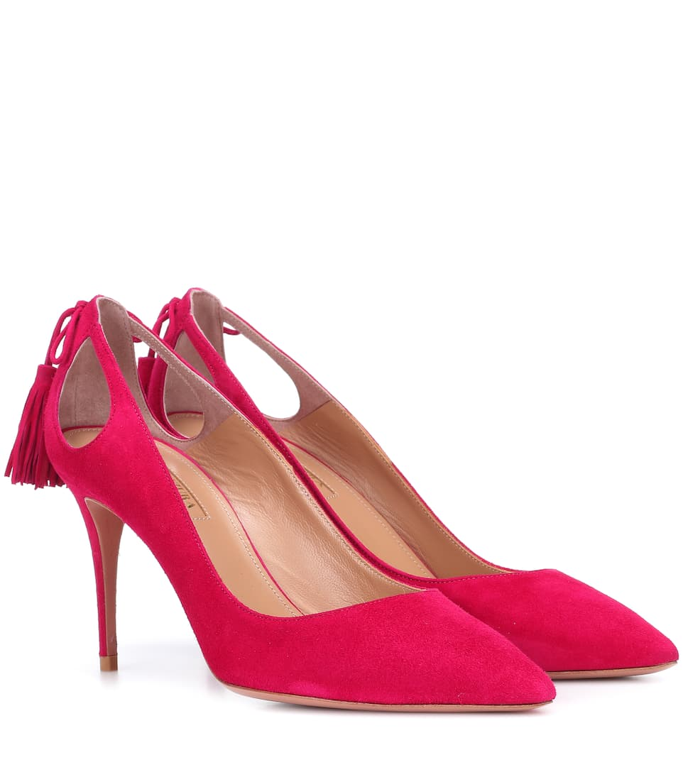 FOREVER MARILYN 85 SUEDE PUMPS