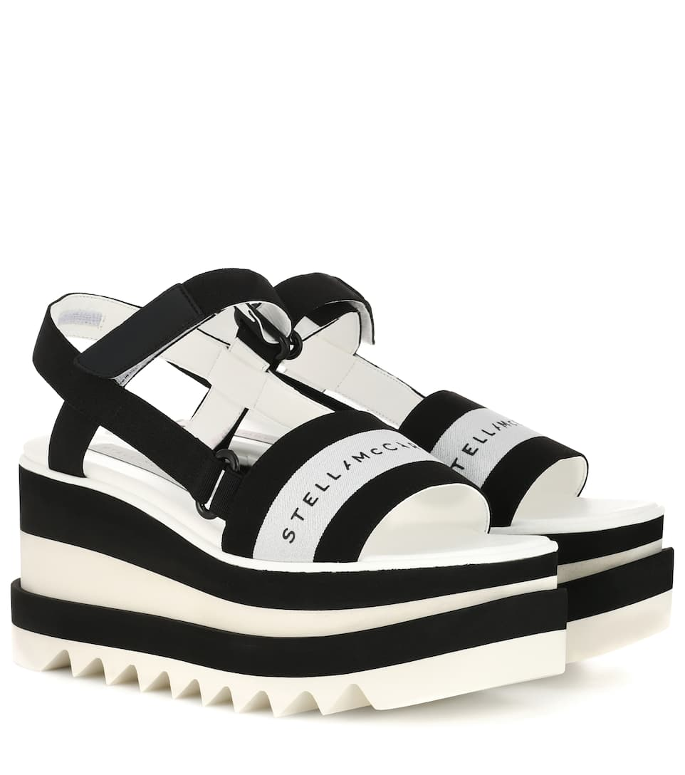 0991b3956c0 Striped Platform Sandals - Stella McCartney