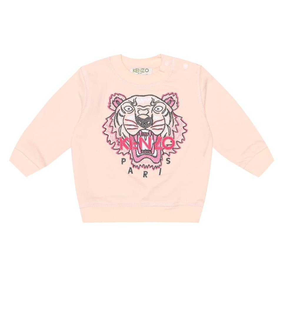 Kenzo Kids Felpa logo bambina Rosa