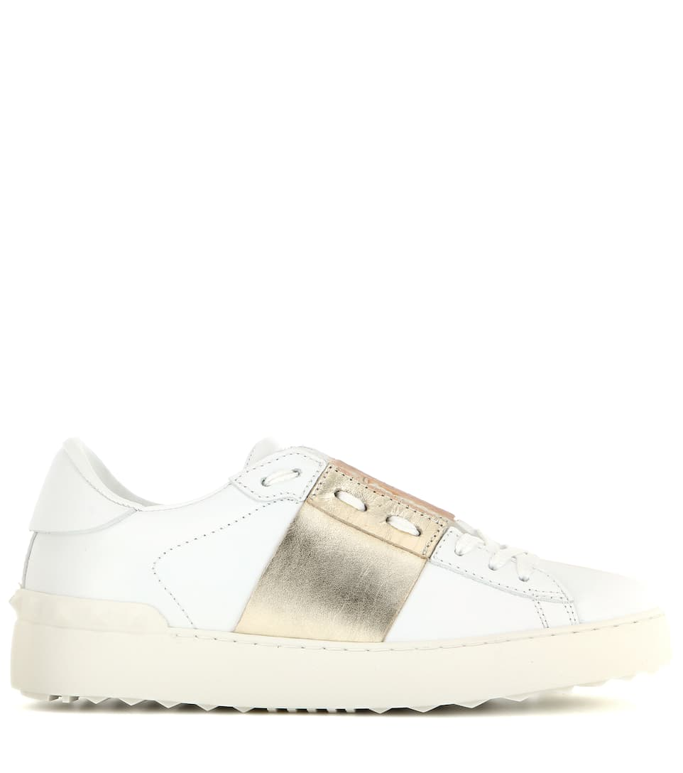Freies Verschiffen Sammlungen Footaction Online-Verkauf Valentino Valentino Garavani Ledersneakers Open Online-Verkauf Online Steckdose Countdown-Paket Erhalten Online Kaufen WQArAgDq