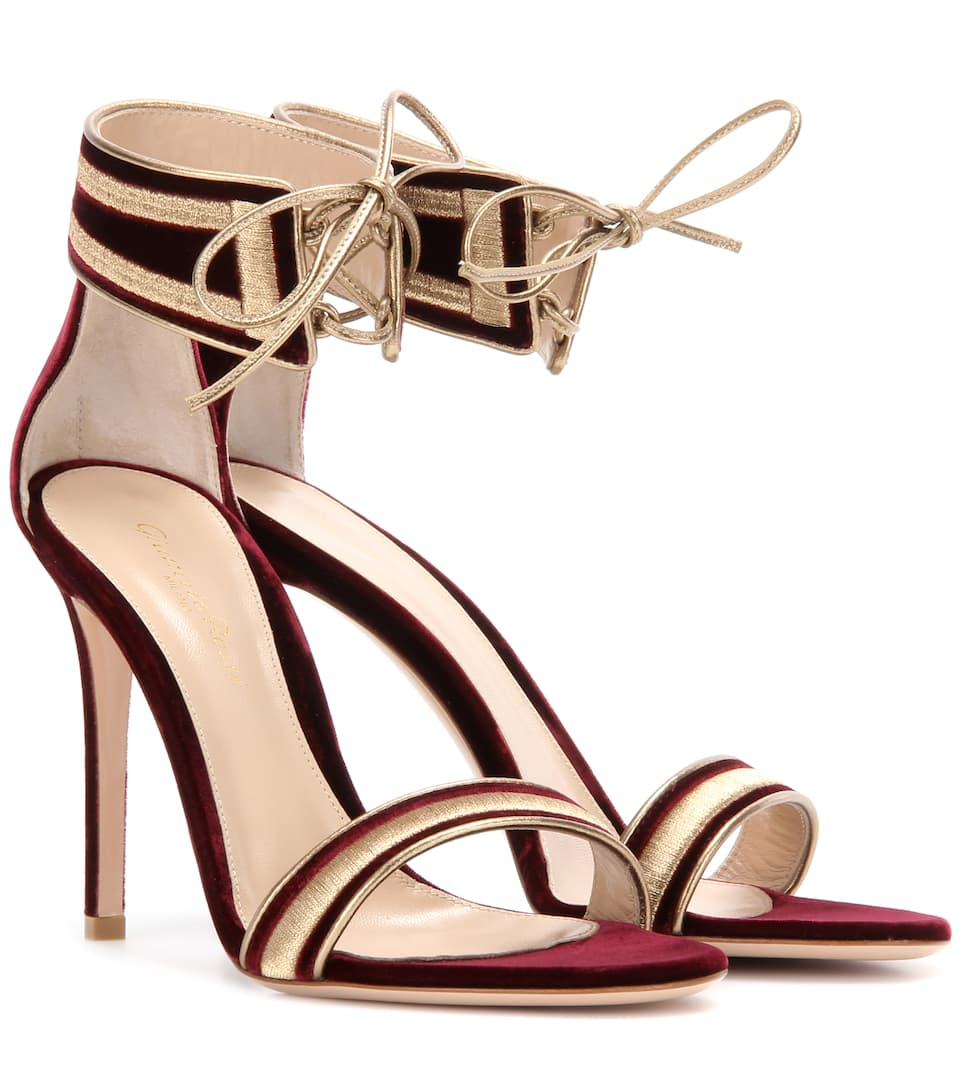 Gianvito Rossi Velvet sandals
